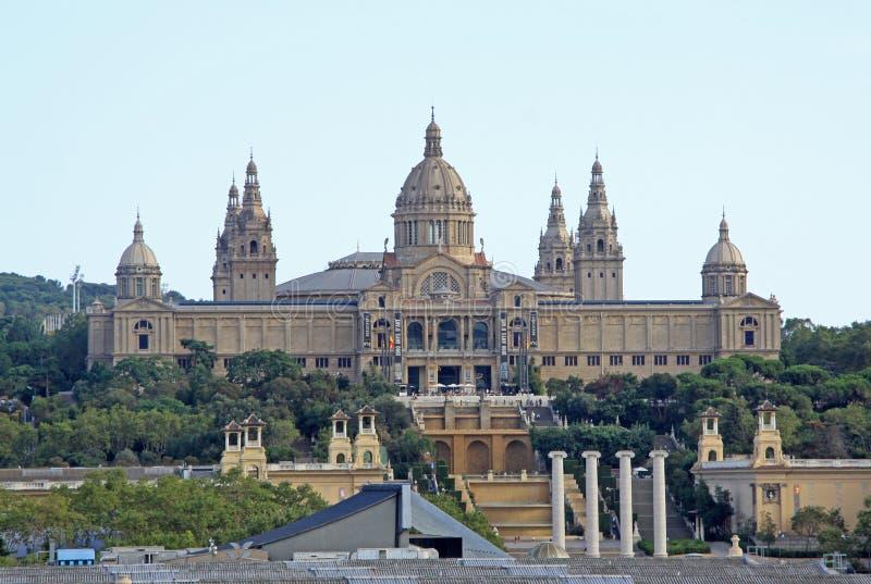 Национальный музей искусства (MNAC) в Барселоне, Каталонии, Испании стоковые фото
