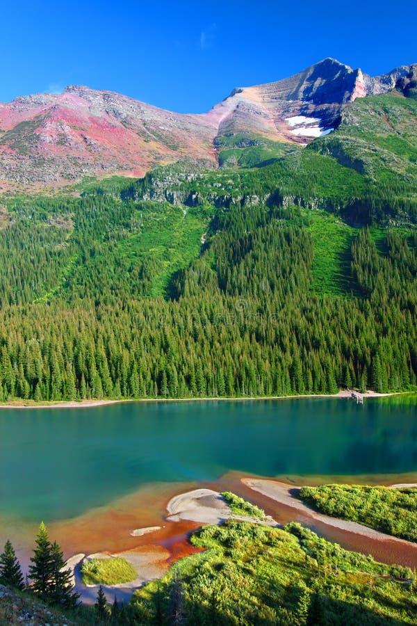 Национальный парк ледника Жозефины озера стоковые изображения rf