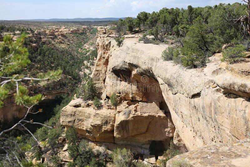 Национальный парк мезы Verde в Колорадо, США стоковое фото rf