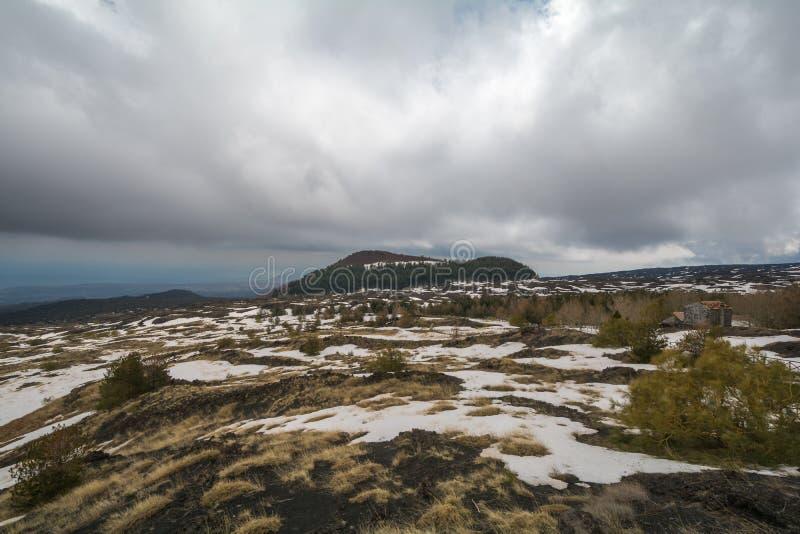 Национальный парк на Этна в Сицилии стоковое фото rf