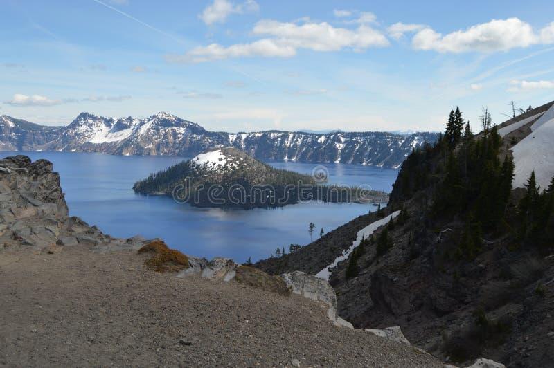 Национальный парк озера кратер стоковое изображение