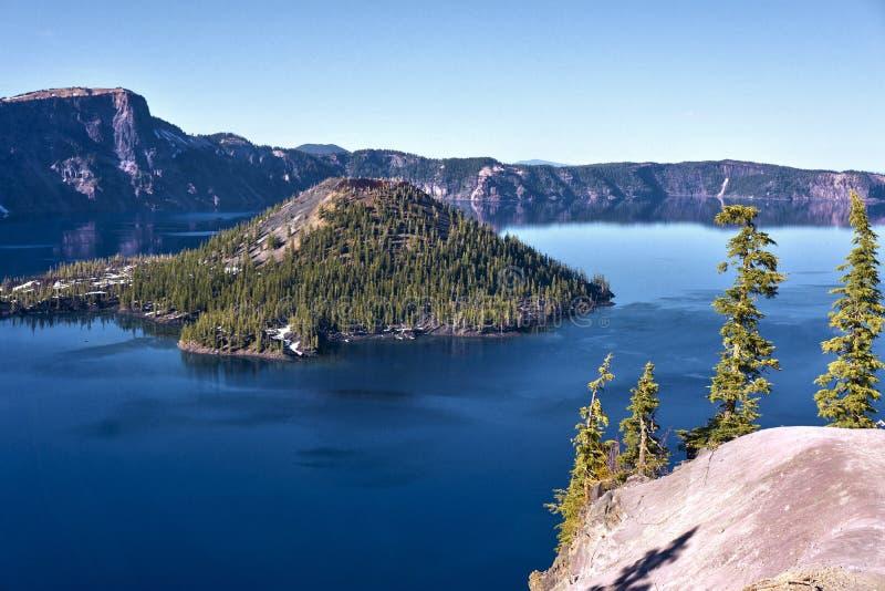Национальный парк озера кратер стоковые фото