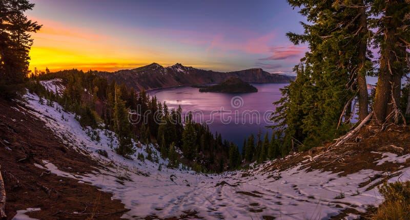 Национальный парк Орегон озера кратер стоковое фото