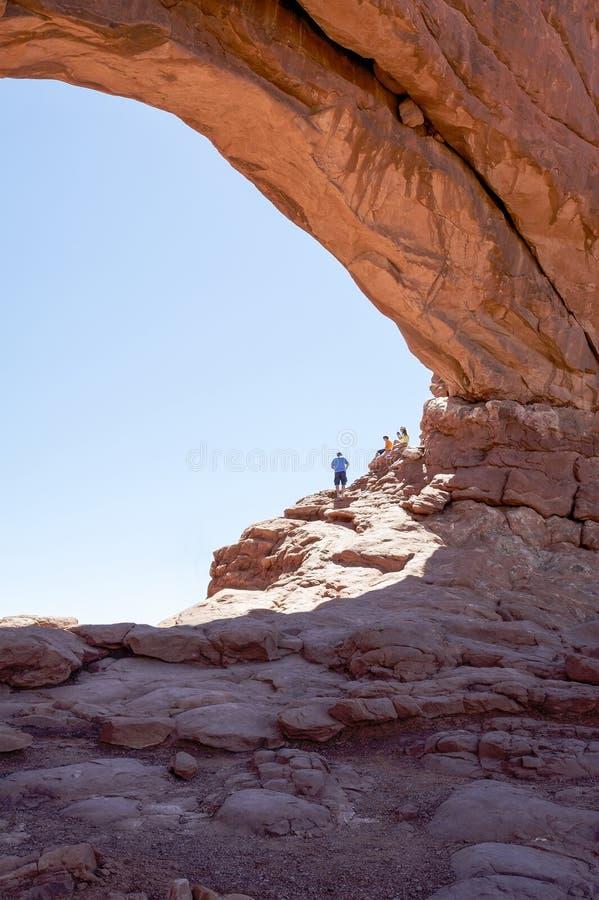 Национальный парк сводов - северное окно стоковые изображения rf