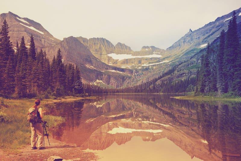 национальный парк США Монтаны ледника стоковое фото