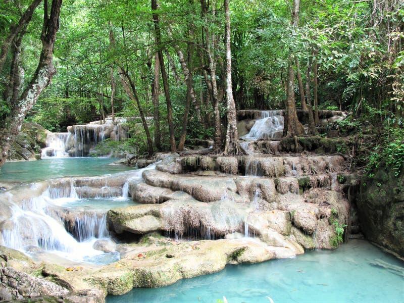 Национальный парк Таиланд Erawan стоковые фотографии rf