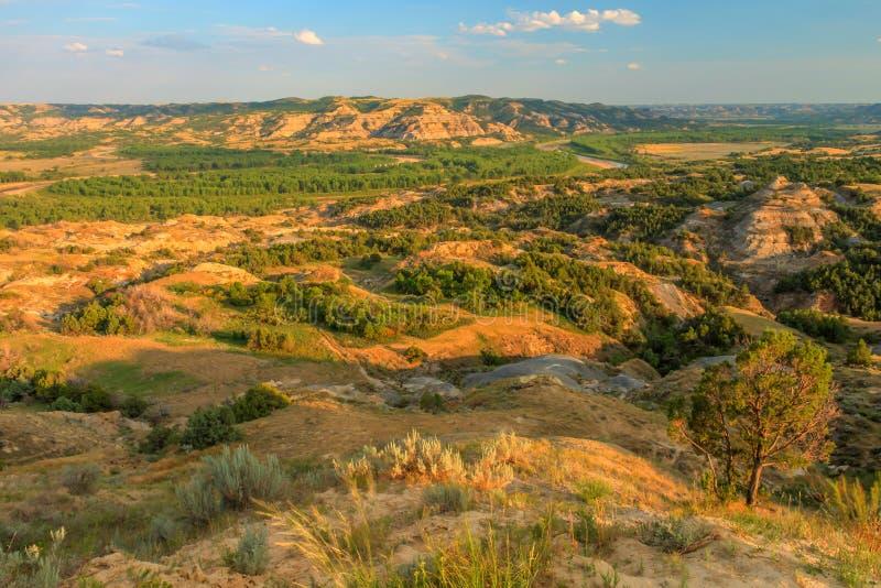 Национальный парк Теодора Рузвельта ландшафтов стоковое изображение