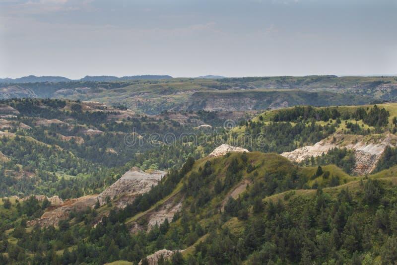 Национальный парк Теодора Рузвельта, северные неплодородные почвы Северной Дакоты блока стоковая фотография
