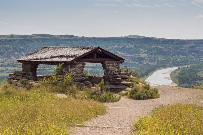 Национальный парк Теодора Рузвельта, северные неплодородные почвы Северной Дакоты блока стоковое изображение