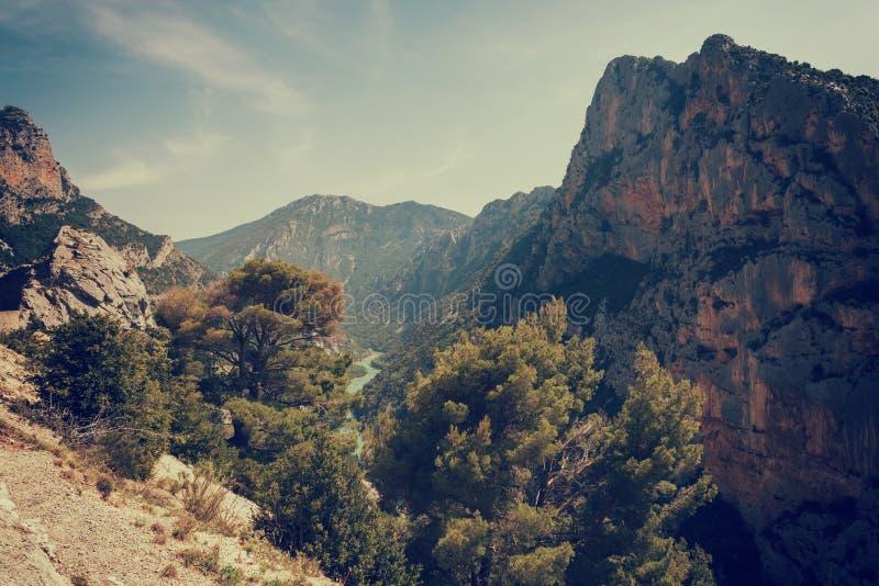 Национальный парк ущелья Вердон, популярное туристское назначение в Провансали, Франции стоковая фотография