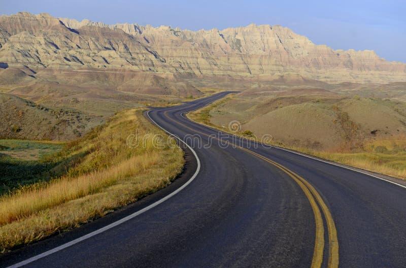 национальный парк южные США Дакоты неплодородных почв стоковое фото