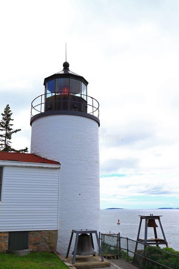 Национальный парк Acadia маяка стоковая фотография
