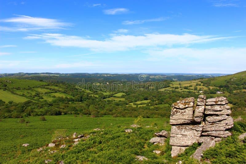 Национальный парк Dartmoor стоковое фото rf