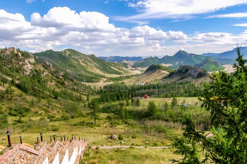 Национальный парк Gorkhi Terelj, Монголия стоковые изображения rf