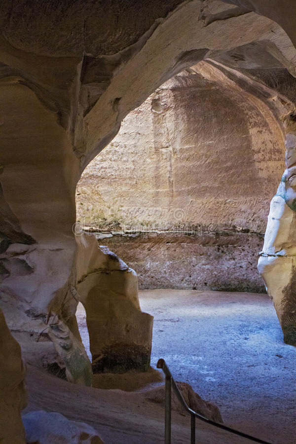 Национальный парк Guvrin пари ar пещеры стоковая фотография