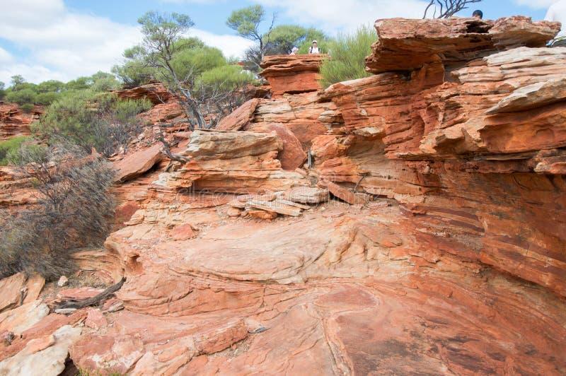 Национальный парк Kalbarri: Блеф песчаника стоковое изображение