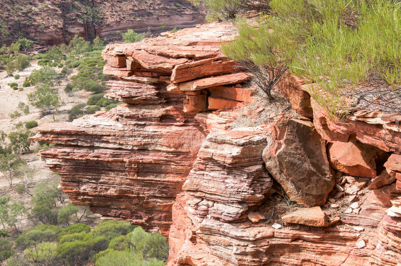 Национальный парк Kalbarri: Деталь скалы стоковое изображение rf