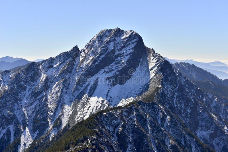Национальный парк Mt Yushan jady главным образом пик стоковое фото
