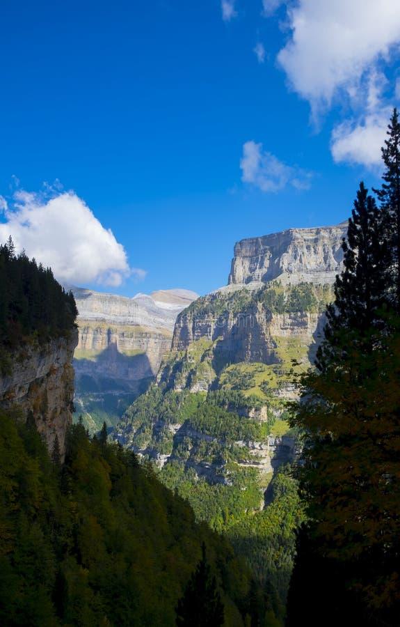 Национальный парк Ordesa и Monte Perdido стоковое фото rf