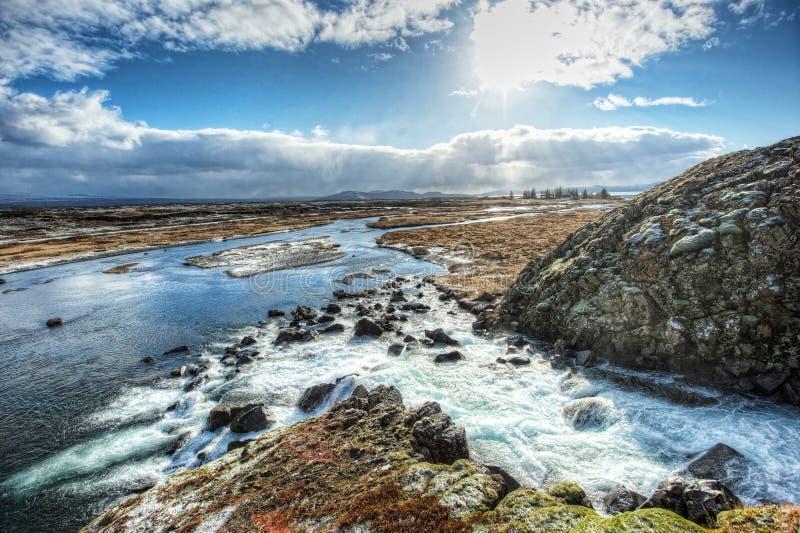 Национальный парк Pingvellir стоковые фотографии rf