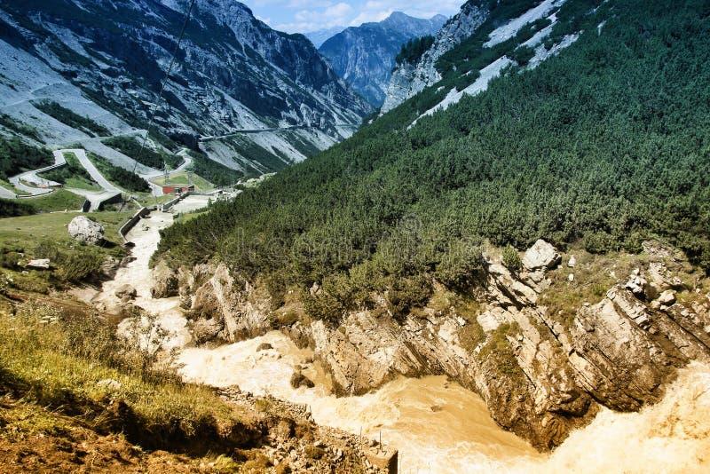 Национальный парк Stelvio стоковая фотография rf