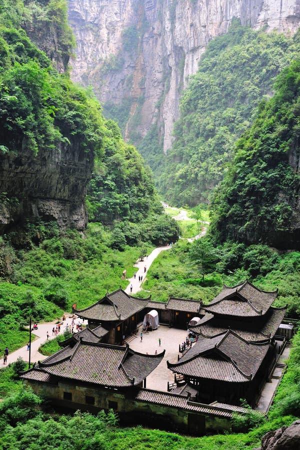 Национальный парк Wulong, Чунцин, Китай стоковая фотография rf
