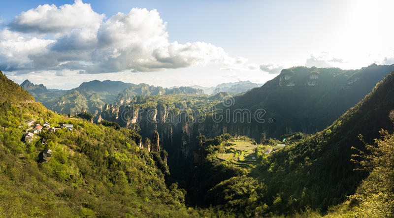 Национальный парк Zhangjiajie стоковые изображения rf