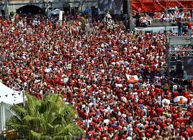 Национальный праздник 01 Гибралтара стоковое изображение