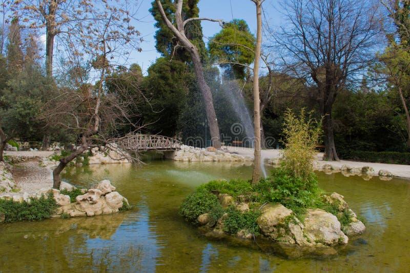Национальный сад, Афины стоковое изображение