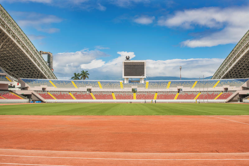 Национальный стадион Коста-Рика универсальный стадион внутри стоковое изображение