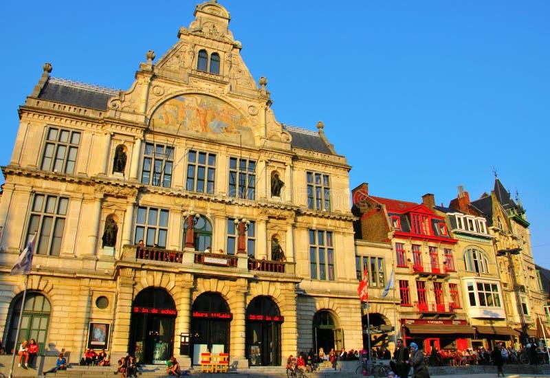 Национальный театр Гента, Бельгии стоковое фото rf
