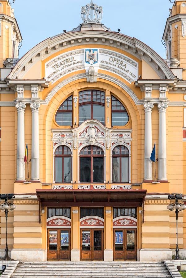 Национальный театр Lucian Blaga в Cluj стоковое изображение