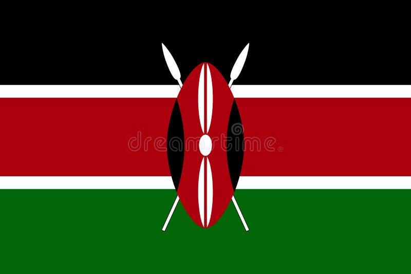 Национальный флаг вектора Кении иллюстрация штока