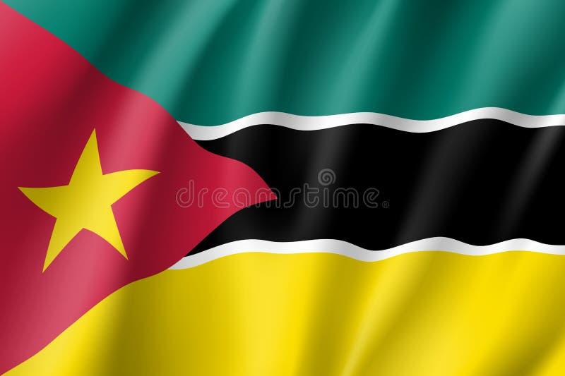 Национальный флаг вектора Мозамбика иллюстрация вектора