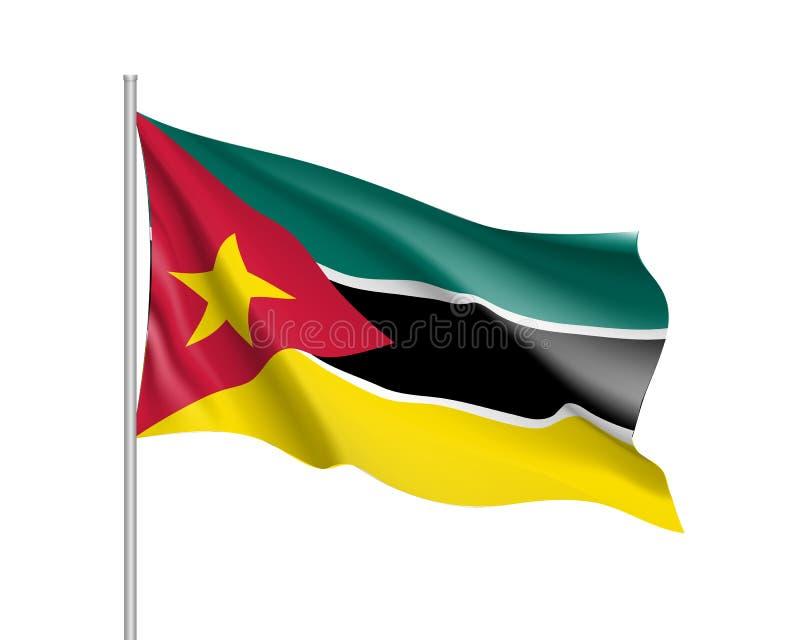 Национальный флаг вектора Мозамбика бесплатная иллюстрация
