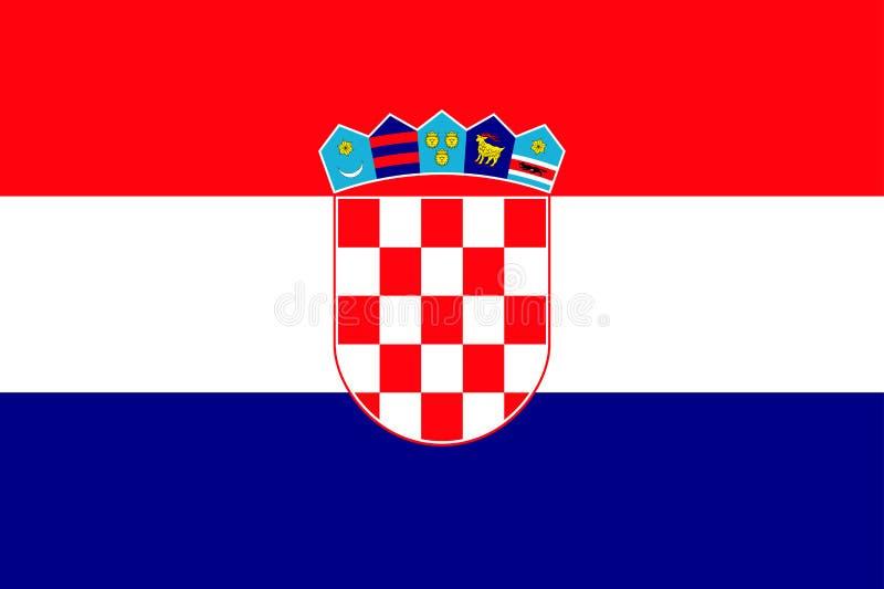 Национальный флаг республики Хорватии иллюстрация штока