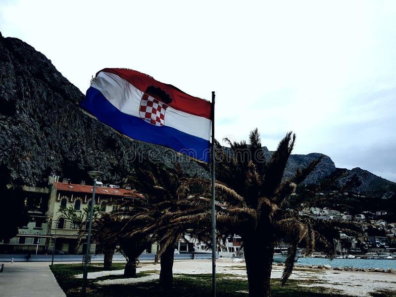 Национальный хорватский флаг стоковое фото rf