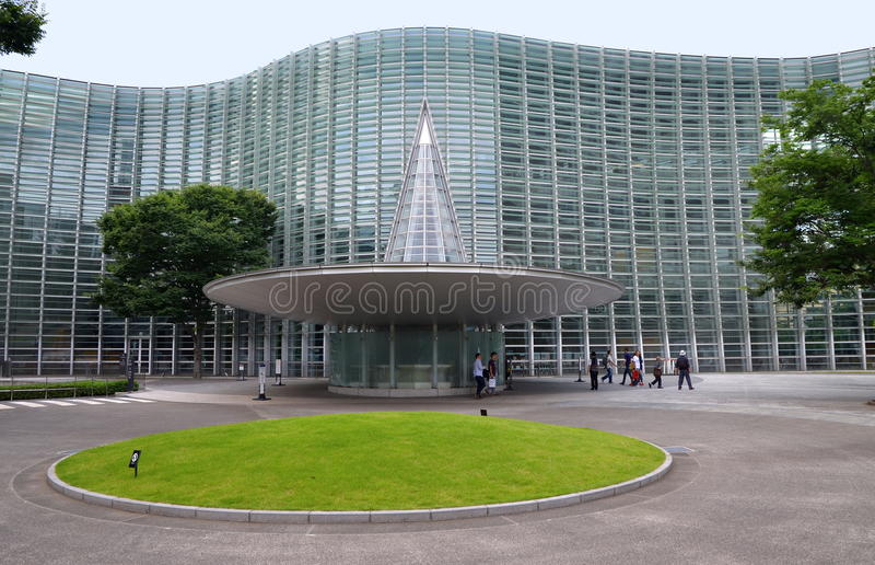 Национальный центр искусства, токио стоковые изображения