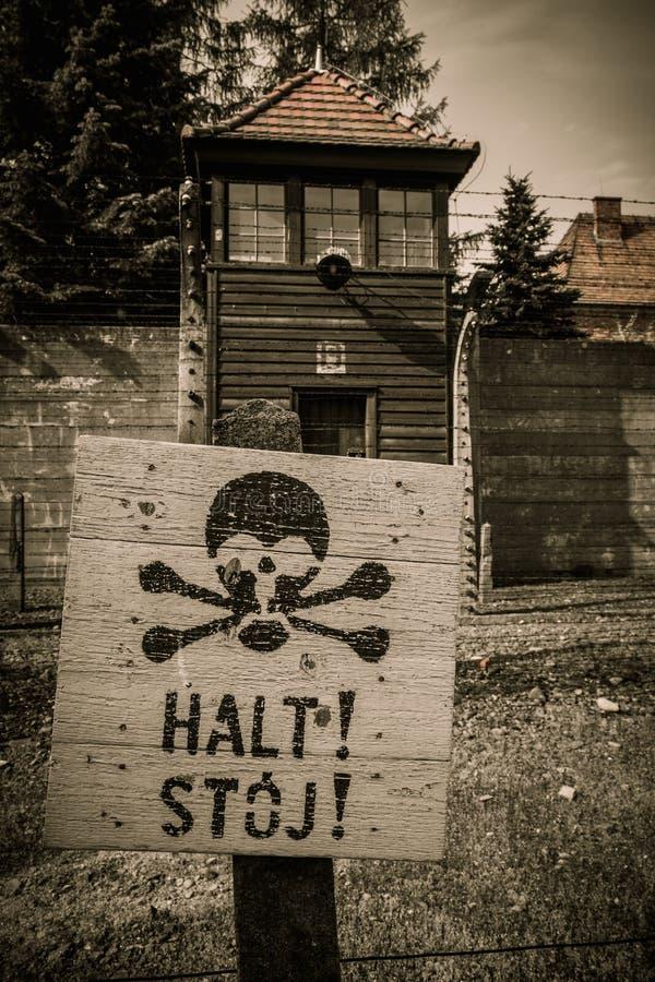 Нацистский концентрационный лагерь Освенцим стоковые изображения rf