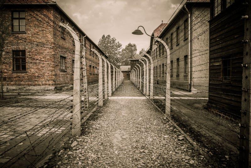 Нацистский концентрационный лагерь Освенцим i, Польша стоковое изображение