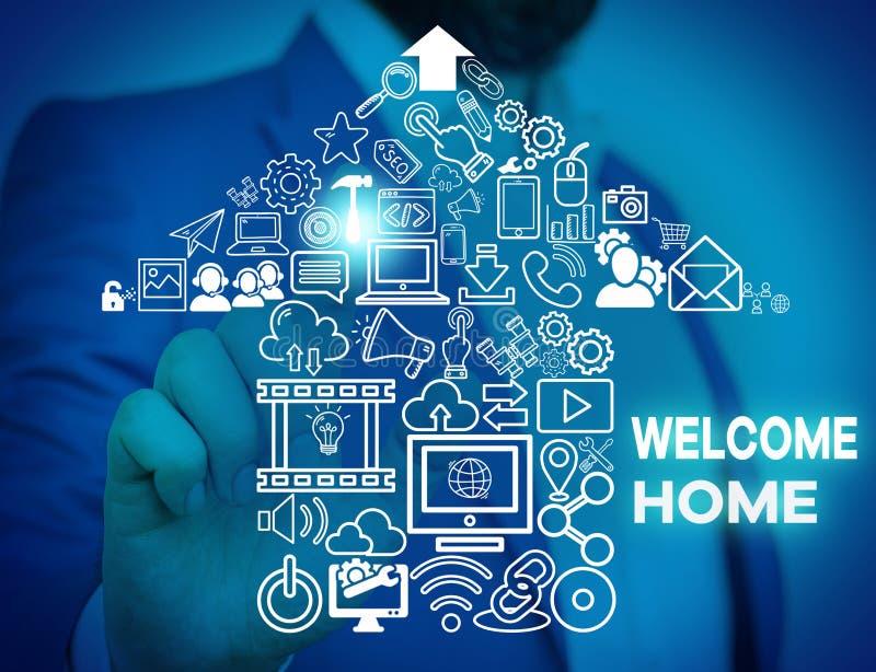 Начало приветствия текста Word Бизнес-концепция для выражения приветствия Новые владельцы Domicile DoSize Entry Male стоковое фото rf