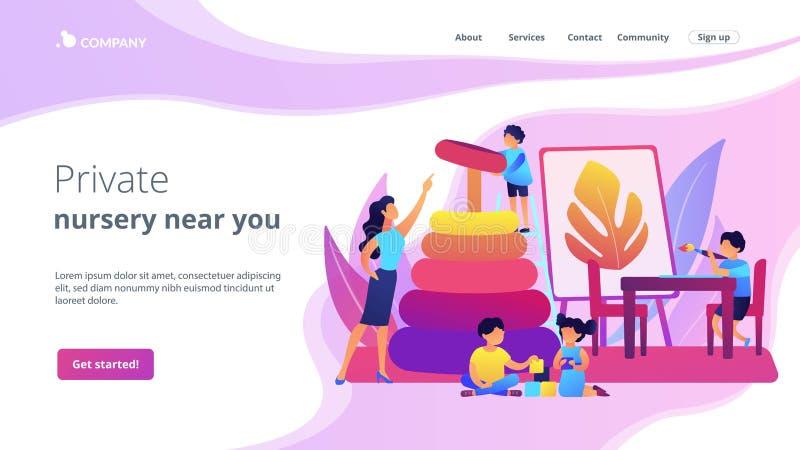 Начальная страница концепции школы-интерната бесплатная иллюстрация