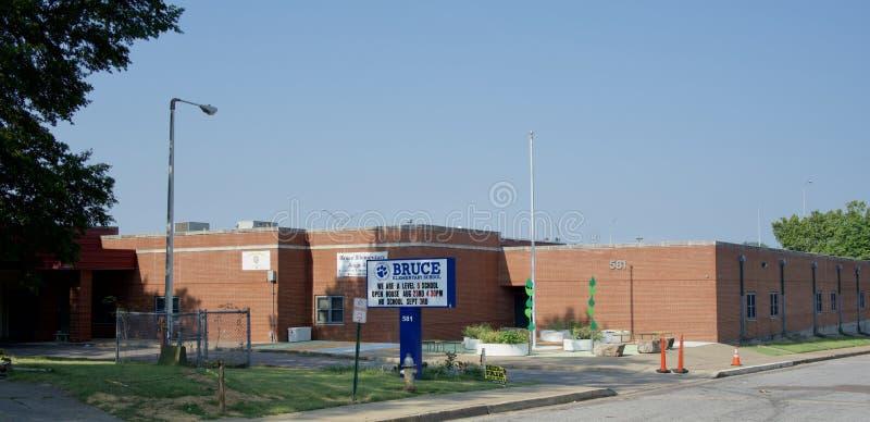 Начальная школа Брюс, Мемфис, Теннесси стоковая фотография rf