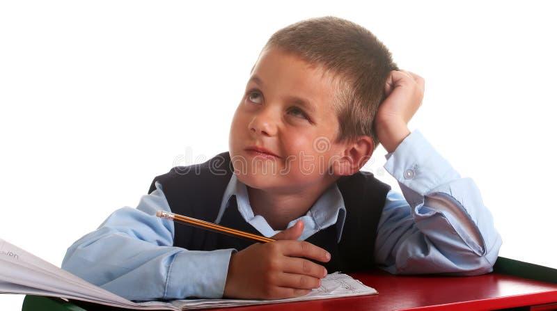 начальная школа мальчика стоковые фотографии rf