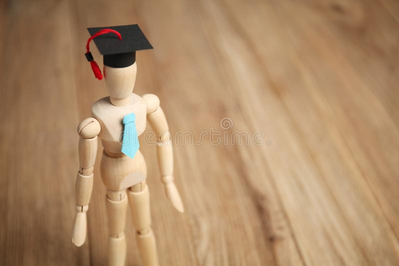 Начальное образование детей Деревянная диаграмма студента стоковая фотография rf