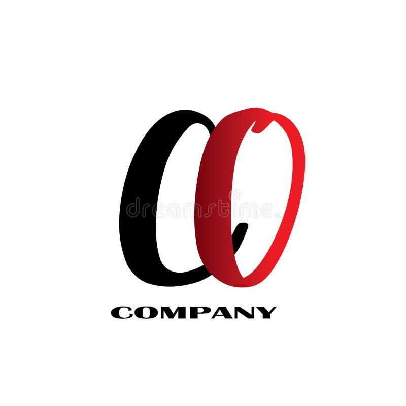 Начальный логотип дизайна письма соединенный CO - вектор иллюстрация штока