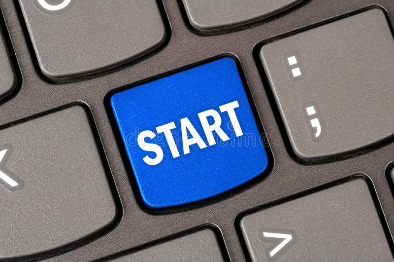 Начать с клавиатуры стоковое изображение rf
