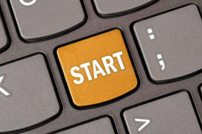 Начать с клавиатуры стоковые фото