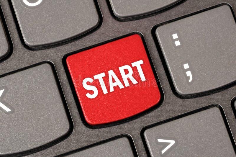 Начать с клавиатуры стоковое фото rf