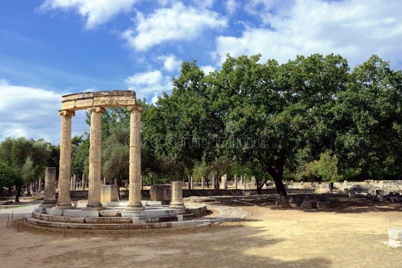 Начало Олимпии Греции Олимпийских Игр стоковые изображения rf